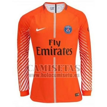 Camiseta Paris Saint-Germain Portero Manga Larga 2017-2018 Naranja 3108df2d48dd8