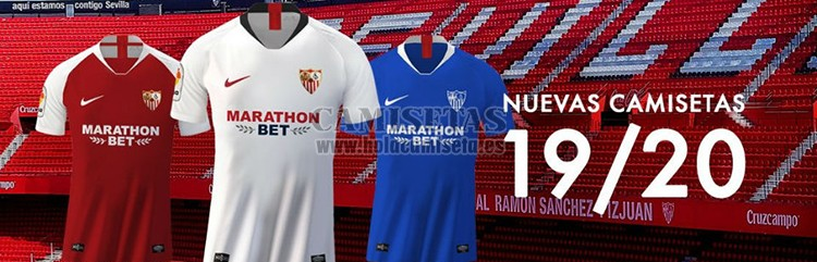 camisetas de futbol Sevilla